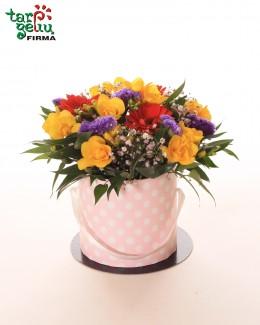 Nuotaikinga gėlių dėžutė