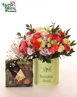 Gėlių dėžutė ir triufeliai