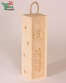 """Dėžė vynui  """"Medinės vestuvės"""""""