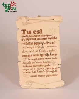 """Papyrus padėka """"Tu esi saulė"""""""