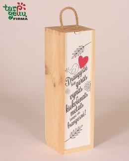 """Vyno dėžė """"Draugystė kaip geras vynas..."""""""