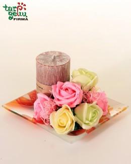 """Muilo rožės ir žvakė """"SPA"""""""