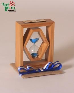 Smėlio laikrodis su palinkėjimu