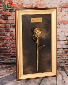 Auksinė rožė su palinkėjimu