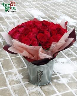 """Rožių puokštė """"Pilna meilės"""""""