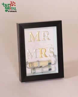 """Rėmelis pinigams įdėti """"MR & MRS"""""""