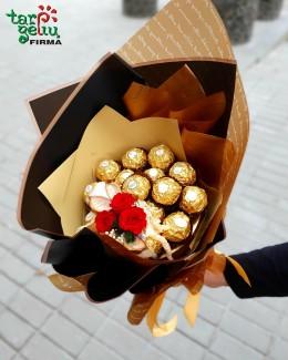"Saldainių puokštė ""Ferrero Rocher"""