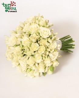 Vestuvinė puokštė iš rožyčių