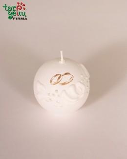 Žvakė burbulas su žiedais