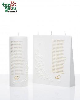 Vestuvinė žvakė HIMNAS MEILEI