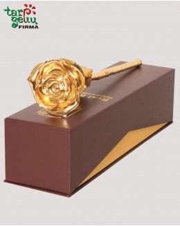 Auksu dengta rožė