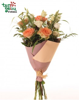 Gėlių puokštė sveikinimui