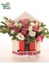 """Gėlių dėžutė """"Gėlėtas laiškas damai"""""""