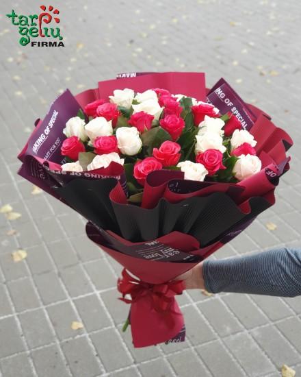 Rožių puokštė DUET
