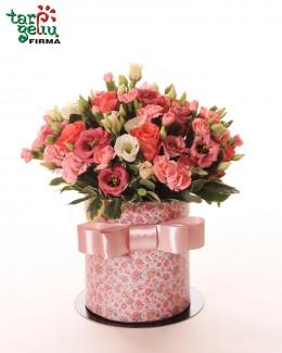 Цветы в коробке PINK