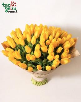 Букет из 100 тюльпана