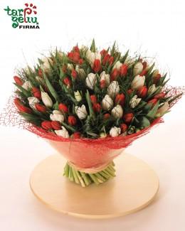 Букет из 100 тюльпанов