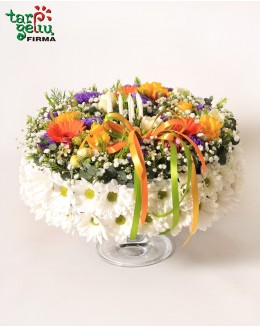 Торт из цветов