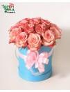 "Розы в коробке ""Розовое небо"""