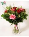 Букет с лилиями и розами