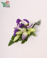 Butonjerė iš eustomos ir orchidėjos