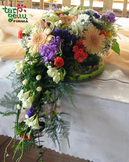 Vestuvinio stalo puošimas VASARA