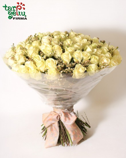 Bouquet of 101 white rose