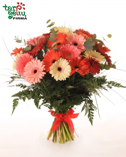 Colorful bouquet of gerbera