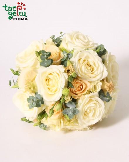 Subtili vestuvinė puokštė