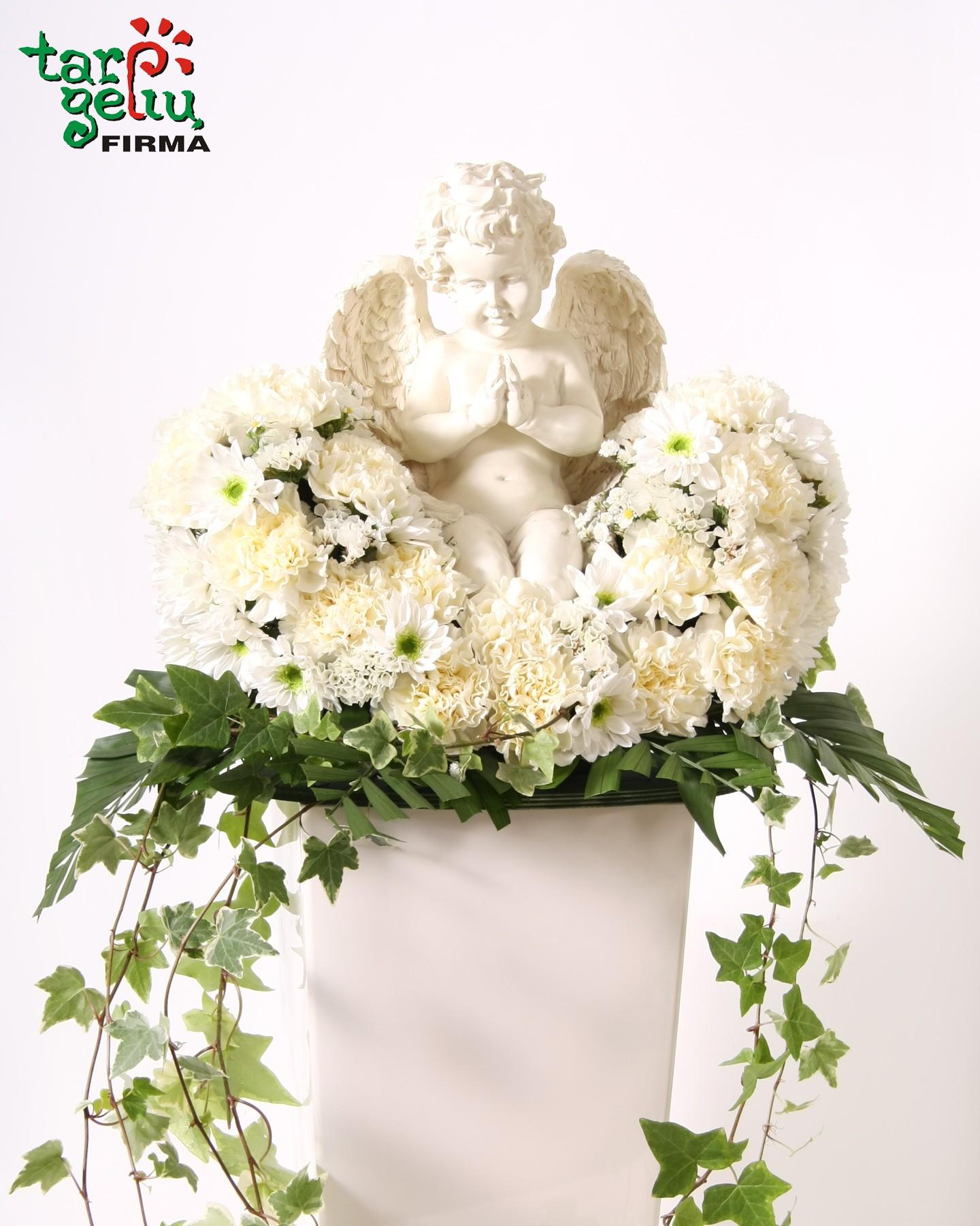 Funeral arrangement white angel funeral boqutes funeral funeral arrangement white angel izmirmasajfo