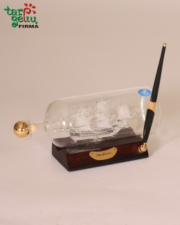 Laivas butelyje-grafinas + rašiklis