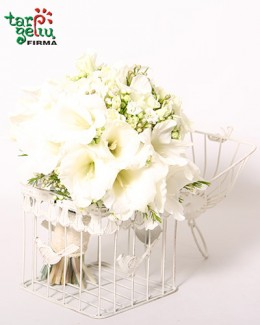 White Gladiolus Bouquet