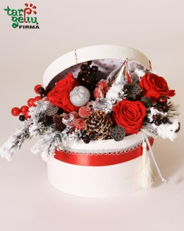Christmas flowers box