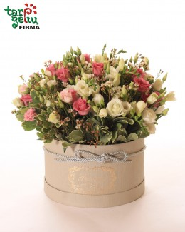 "Flowers box ""Eustoma & freesia"""