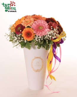 Gerberas in a box