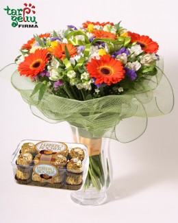 Flowers Bouquet ROMANCE + gift