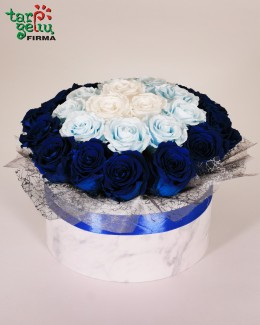 Rose box AQUA BLUE