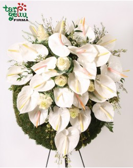 Funeral wreath ANTHURIUM