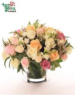 Pastel Roses Arrangement
