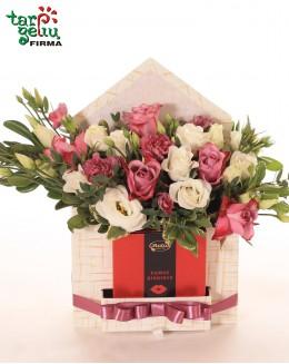 Envelope Flower Box + chocolate
