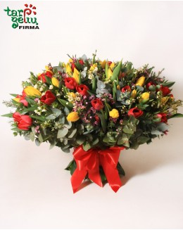 Bouquet of 100 Tulips