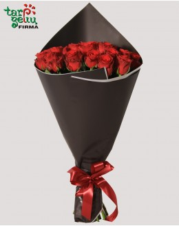 Bouquet RED in BLACK
