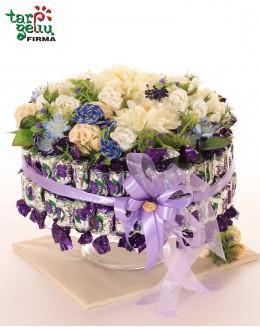 Blue flower box
