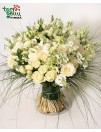 """""""White Eustoma Bouquet"""""""