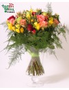 Bouquet of roses and freesia