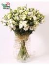White eustoma bouquet