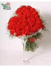 """Bouquet of carnations """"Red Heart"""""""