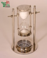 Smėlio laikrodis su kompasu